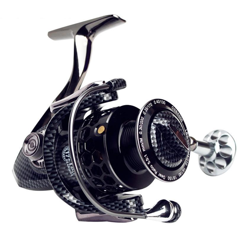 [해외]유유 2018 풀 메탈 낚시 릴 17 + 1BB 시리즈 3000 5000 7000 스피닝 릴 스피닝 릴 스피드 릴 페스 카 메탈 스풀/YUYU 2018 Full metal Fishing Reel 17+1BB series 3000 5000 7000 spinning