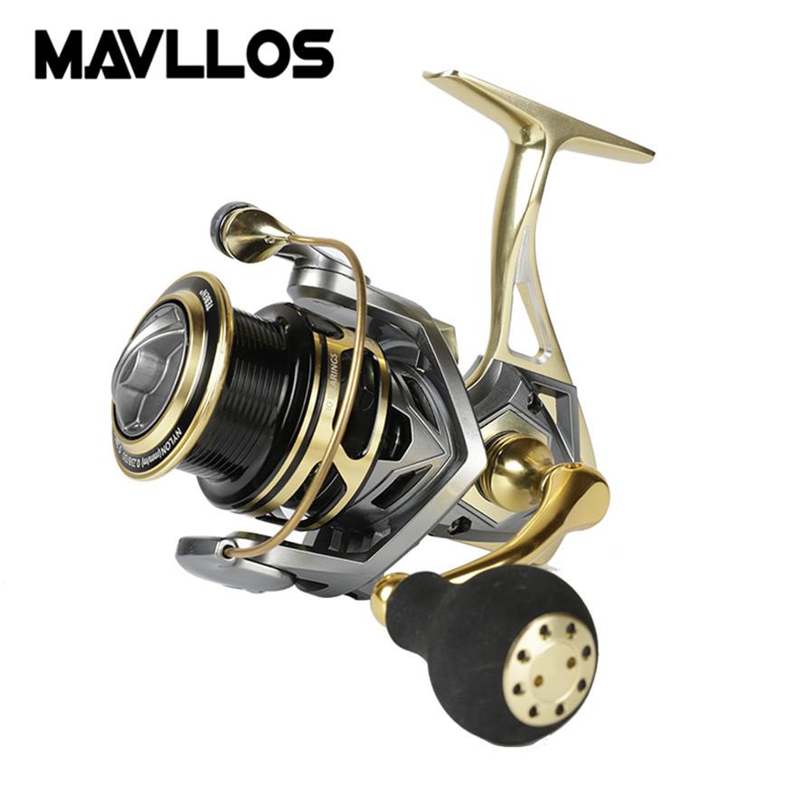 [해외]Mavllos 금 금속 지그 스피닝 낚시 릴 최대 드래그 20kg 금속 바디 핸들 바닷물 루어 낚시 스피닝 릴 서핑 릴/Mavllos Gold Metal Jigging Spinning Fishing Reel Max Drag 20kg Metal Body Handl