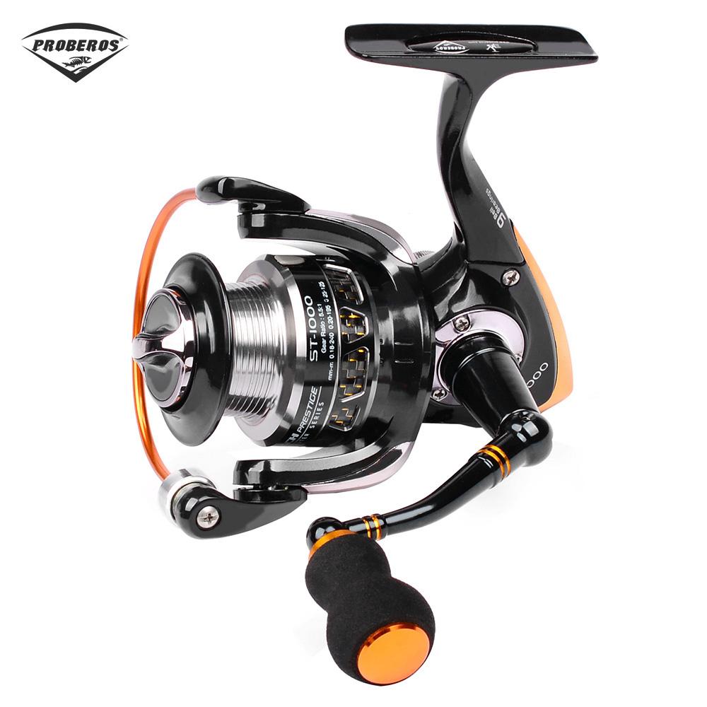 [해외]프로 베로스 경량 5.5 : 1 9 볼 베어링 스피닝 낚시 릴 모든 금속 ST1000-6000 시리즈 바닷물 용 스피닝 휠/PRO BEROS Lightweight 5.5:1 9 Ball Bearing Spinning Fishing Reel All-metal ST