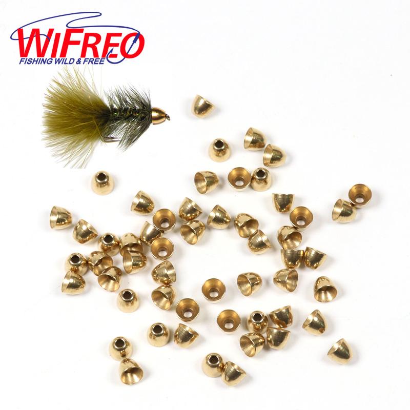 [해외]Wifreo 30PCS 5.5mm Slamon 낚시 튜브 플라이 스 트리머 플라이 송어 낚시 플라이 타잉 비즈 소재에 대한 브래스 콘 헤드/Wifreo 30PCS 5.5mm Brass Cone Head for Slamon Fishing Tube Fly Strea