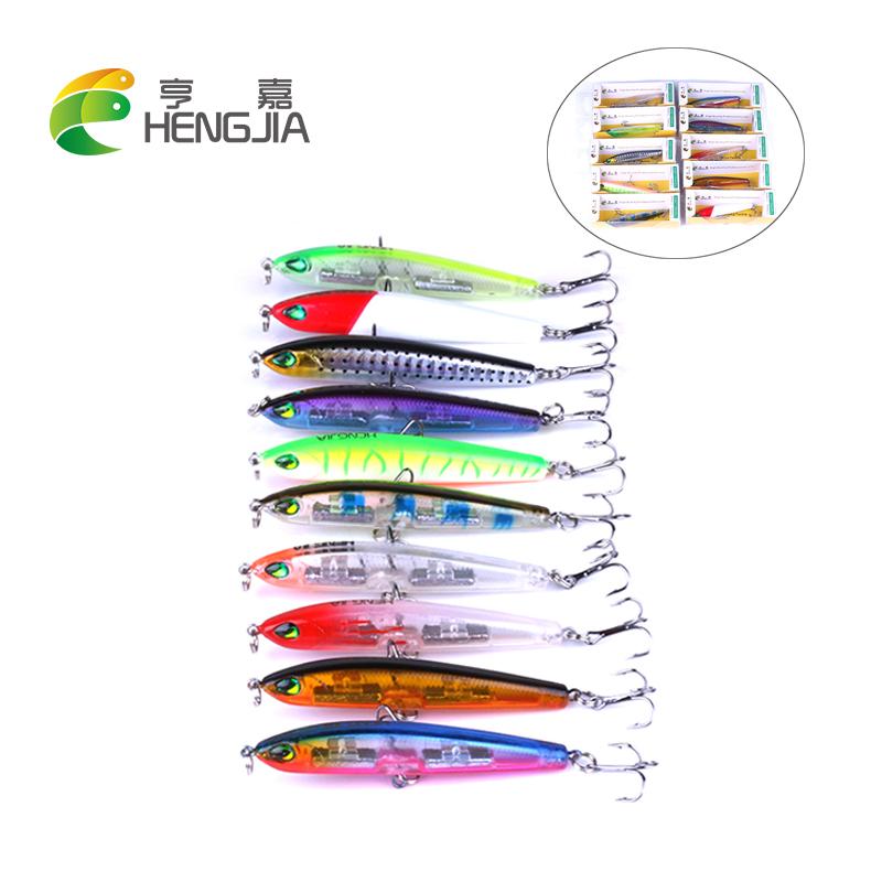 [해외]HENGJIA 5PCS 하드 플라스틱 연필은 인공 wobblers crankbaits가 pesca 낚시를 태클을 가라 앉힐 유혹 7.5cm 9g/HENGJIA 5PCS hard plastic pencil lures artificial wobblers crankb