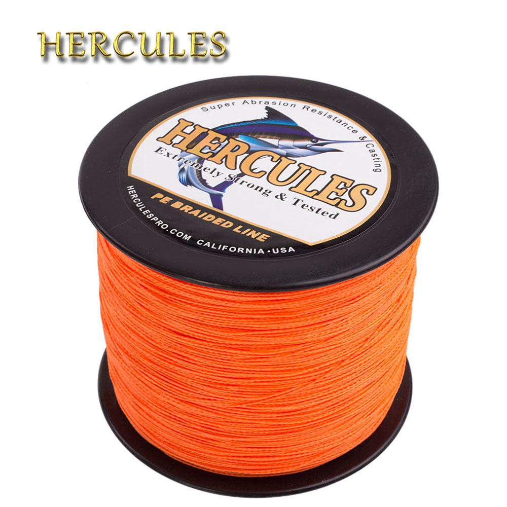 [해외]헤라클레스 꼰 낚시 라인 2000M 잉어 낚시 PE 꼰 와이어 4 가닥 멀티 필라멘트 강한 6-100LB 빅 게임 바닷물 Pesca/Hercules Braided Fishing Line 2000M Carp Fishing PE Braided Wire 4 Stran