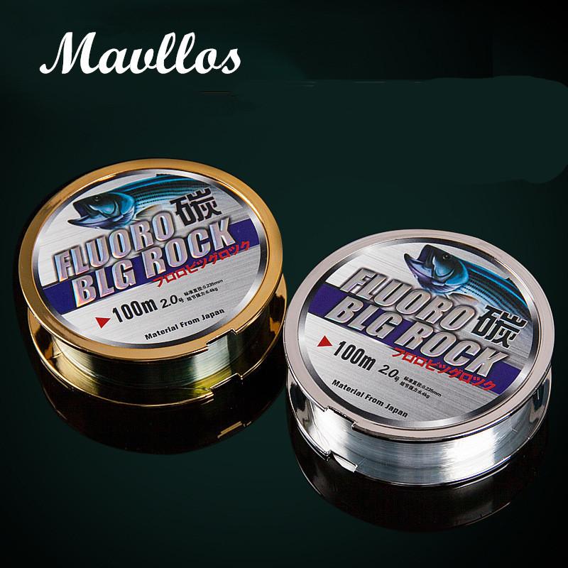 [해외]Mavllos 100M 나일론 낚시 라인 100 % 표면 Fluorocarbon 코팅 2-50LB Impot 낚시 라인/Mavllos 100M Nylon Fishing Line 100% Surface Fluorocarbon Coating 2-50LB Impot