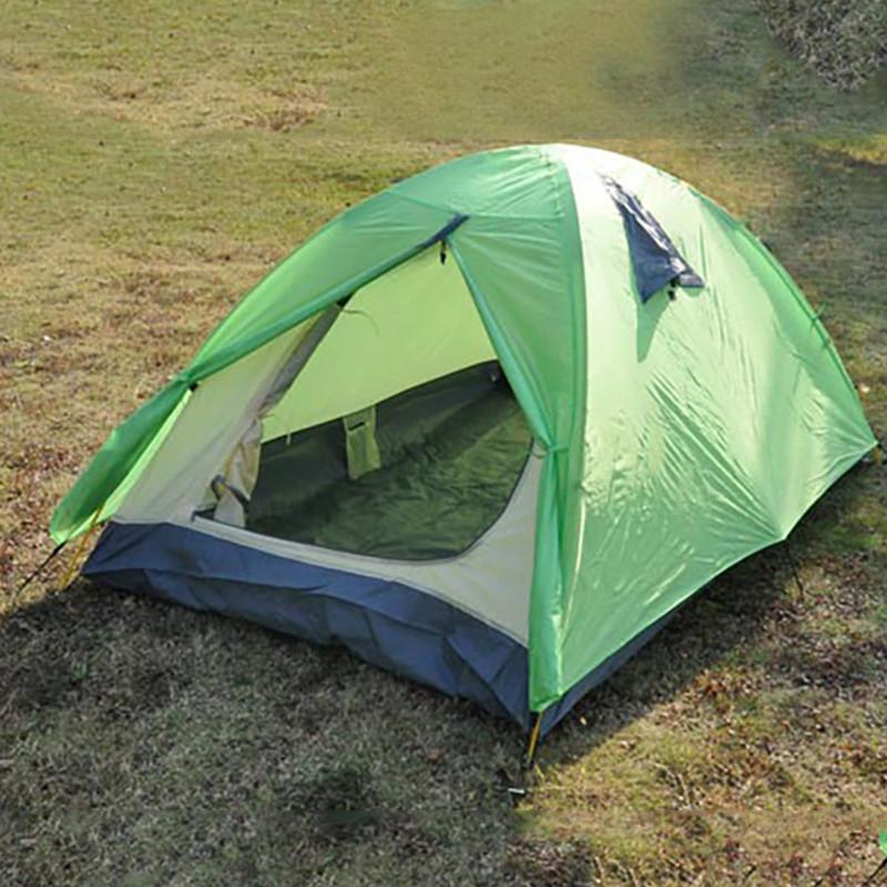 [해외]1 - 2 명 야외 스포츠 하이킹 스포츠 장비 5000mm 방수 듀얼 레이어 유리 섬유 장 캠핑 텐트/1-2 people outdoor travelling hiking sports equipment 5000mm waterproof double layer fibe