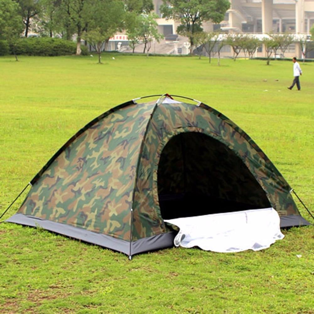 [해외]휴대용 야외 캠핑 더블 사람 텐트 방수 먼지 방지 위장 폴딩 텐트 하이킹 여행을위한/Portable Outdoor Camping Double Persons Tent Waterproof Dirt-proof Camouflage Folding Tent for Trav