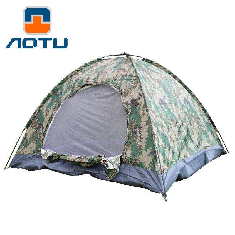 [해외]새로운 2018 야외 디지털 위장 텐트 3 ~ 4 명 개인 생존 야외 캠핑 monolayer 200 * 200 * 130cm/NEW 2018 Outdoor Digital camouflage tent three to four people Individual sur