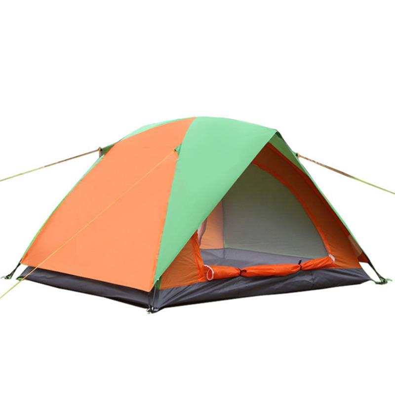 [해외]2 사람 야외 캠핑 텐트 Anti-mosquito 방수 두 배 휴대용 Tente Couple 하이킹 등산 소풍 Ultralight Tenda/2 Person Outdoor Camping Tent Anti-mosquito  Waterproof Double Port