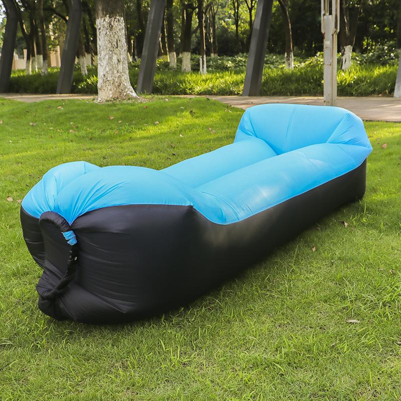 [해외]2017 핫 판매 빠른 Laybag 공기 슬리핑 백 240 * 70cm 캠핑 휴대용 에어 바나나 소파 비치 침대 에어 해먹 나일론/2017 hot sale fast Inflatable Laybag Air Sleeping Bag 240*70cm Camping Po