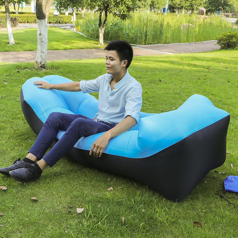[해외]Kishoo 브랜드 캠핑 게으른 가방 누워 가방 침낭 빠른 풍선 에어 소파 비치 침대 라운지의 자 에어백 바나나 소파 Laybag/Kishoo Brand Camping Lazy Bag Lay Bag Sleeping Bag Fast Inflatable Air So