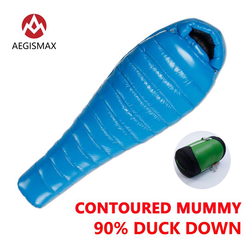 [해외]AEGISMAX 90 % 화이트 오리 미라 캠핑 슬리핑 백 추운 겨울 초경 배플 디자인 캠핑 Splicing D1-D4/AEGISMAX 90% White Duck Down Mummy Camping Sleeping Bag Cold Winter Ultralight