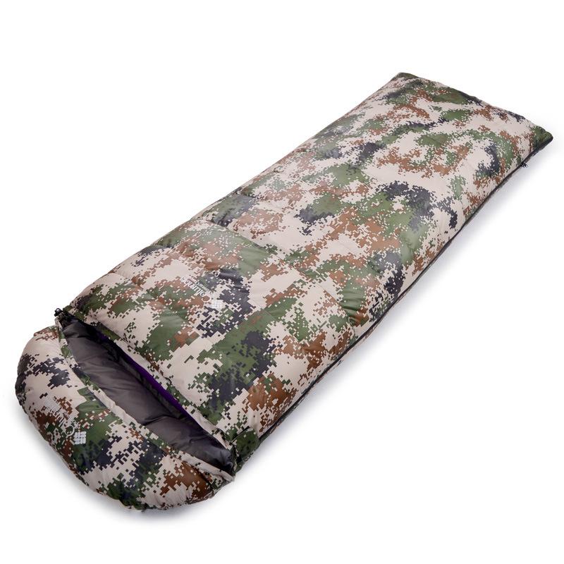[해외]야외 800g 오리 아래로 성인 빛 아래로 침낭 싸움 두꺼운 따뜻한 겨울 캠핑 점심 위장 수면 가방/Outdoor 800g duck down adult light down sleeping bags fight Double thick warm winter campi