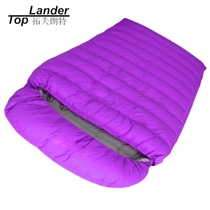 [해외]겨울 캠핑 슬리핑 백 더블 커플 봉투 슬리핑 백 깃털 성인 하이킹 더블 다운 슬리핑 백/Winter Camping Sleeping Bags Double Couple Envelope Sleeping Bags Feather Adult Hiking Duck Down