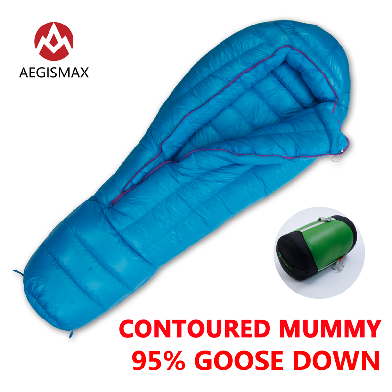 [해외]AEGISMAX 옥외 야영 울트라 95 % 거위 다운 미라 익스트림 슬리핑 백 추운 날씨 다운 길어진 성인 나일론 슬리핑 백/AEGISMAX Outdoor Camping ULTRA 95% Goose Down Mummy Extreme Sleeping Bag Col