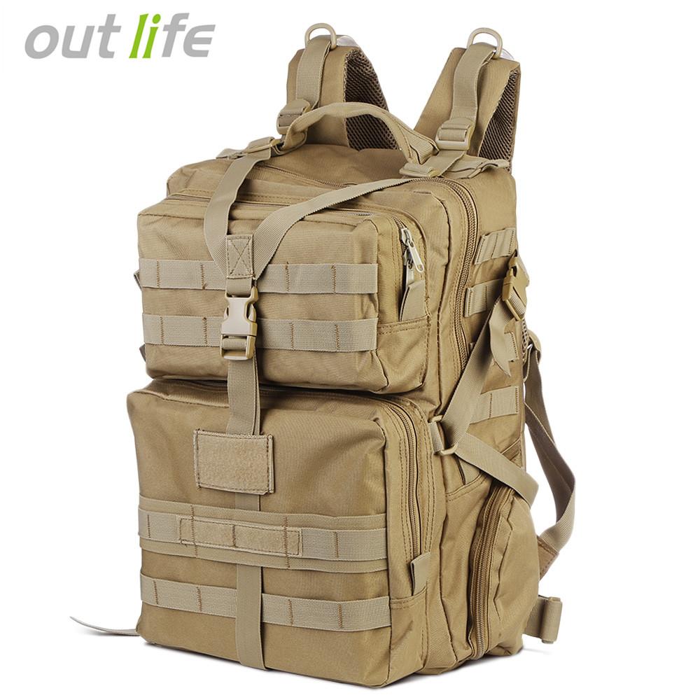 [해외]Outlife 45L 밀리터리 전술 배낭 군대 몰리 가방 폭행 배낭 야외 하이킹 캠핑 사냥을트레킹 배낭/Outlife 45L Military Tactical Backpack Army Molle Bag Assault Backpack Trekking Rucksack