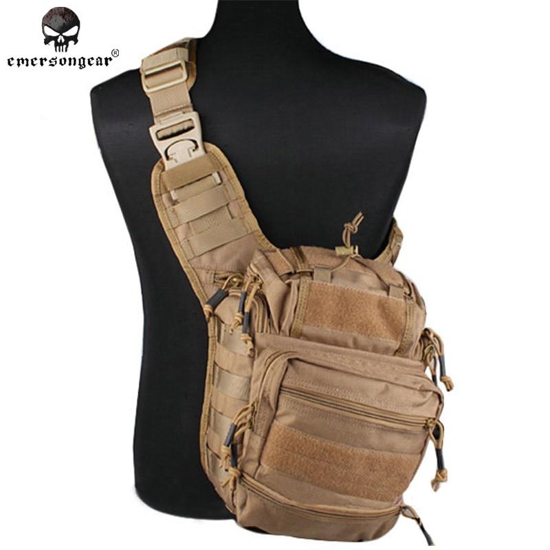 [해외]Emersongear 거상 Versipack 전술적 슬링 팩 정찰기 밀리터리 전술 장치 숄더 백 EM8342D Multicam 나일론 패브릭 카모/Emersongear Colossus Versipack Tactical Sling Pack Recon Militar