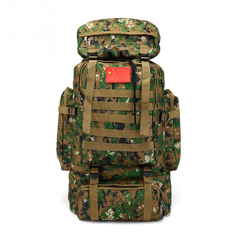 [해외]2018 1pcs 70L 대용량 등산 가방 야외 스포츠 위장 백팩 밀리터리 훈련 캠핑 수하물 배낭/2018 1Pcs 70L Large Capacity Mountaineering Bag Outdoor Sports Camouflage Backpack Military