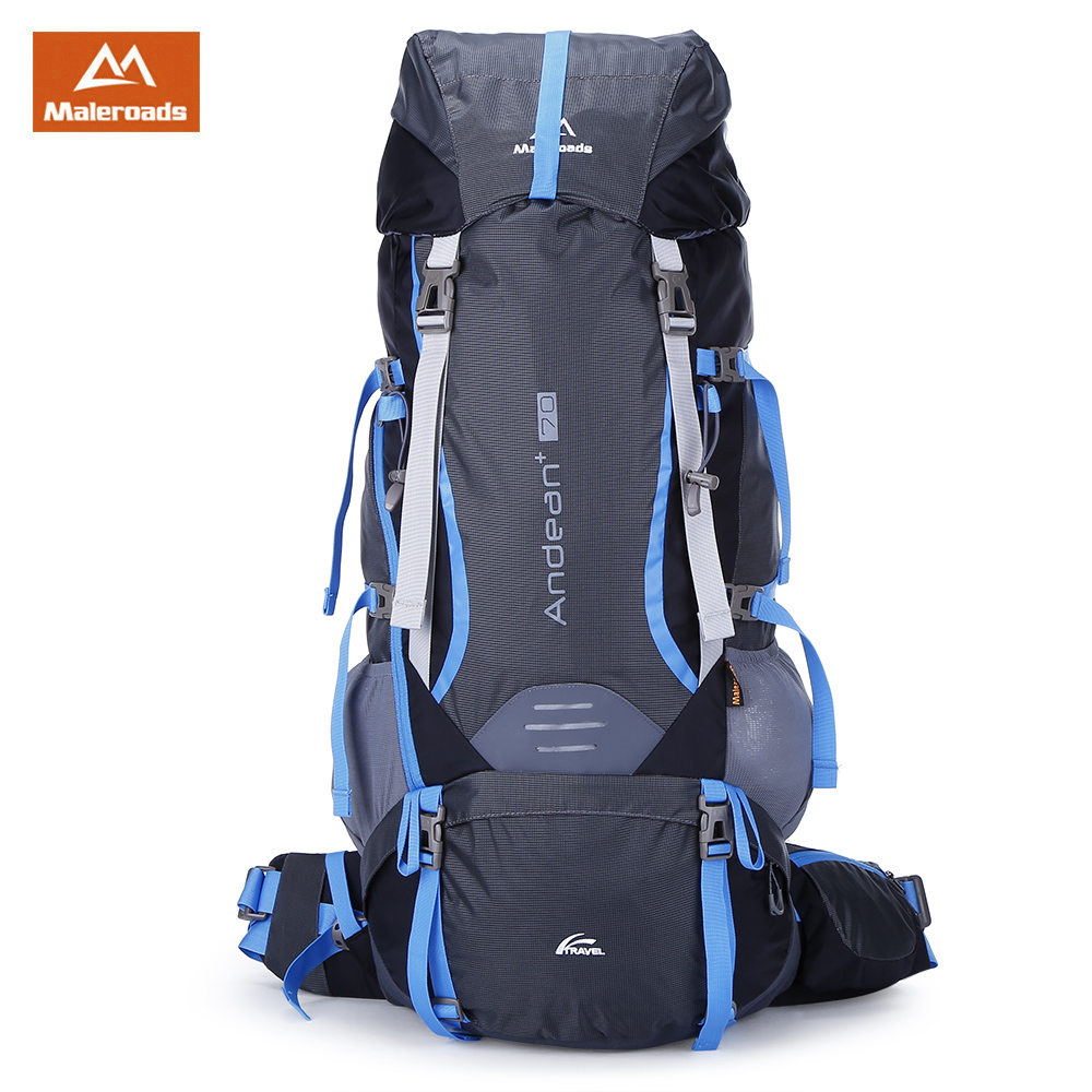 [해외]Maleroads 나일론 야외 가방 70L 대형 스포츠 하이킹 배낭 여행 방수 등산 캠핑 배낭 자전거 배낭 가방/Maleroads Nylon Outdoor Bags 70L Large Sports Hiking Backpack For Travel Waterproof