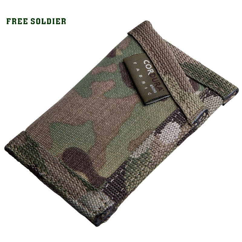 [해외]FREE SOLDIER 야외 스포츠 전술 군용 지갑 MC EDC 사냥 나일론 지갑 신용 ID 홀더/FREE SOLDIER outdoor sports tactical military wallet MC EDC hunting nylon wallet credit ID