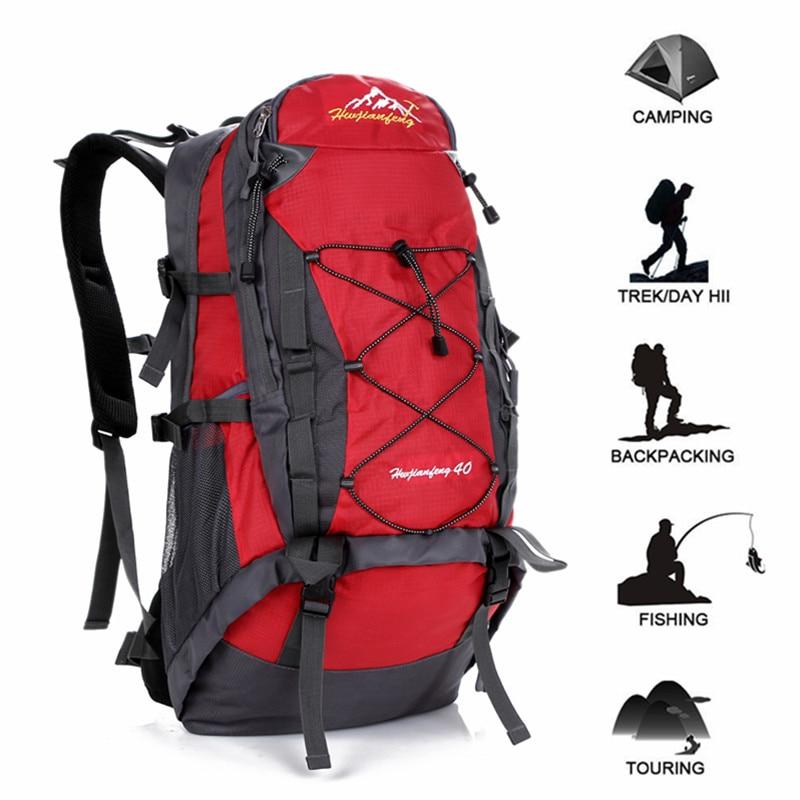 [해외]40L 방수 여행 하이킹 배낭 야외 스포츠 가방 캠핑 등산 가방 남성 여성 등산 트레킹 등산 사이클백/40L Waterproof Travel Hiking Backpack Outdoor Sports Bag Camping Climbing Bag Men Women T