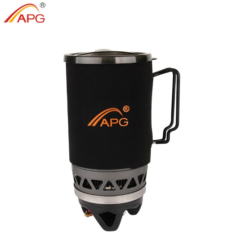 [해외]APG 휴대용 1400ml 요리 시스템 야외 하이킹 캠핑 스토브 열교환 기 포트 프로판 가스 버너/APG Portable 1400ml Cooking System Outdoor Hiking Camping Stove Heat Exchanger Pot Propane