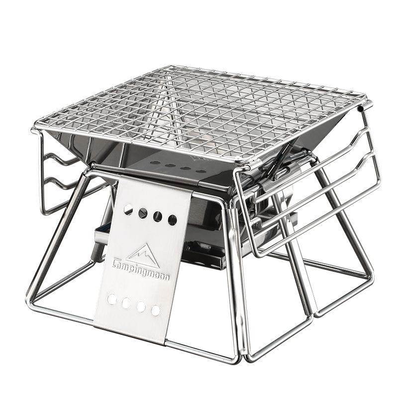 [해외]휴대용 야외 BBQ 그릴 스테인레스 스틸 접는 숯불 바베큐 스토브 야외 바베큐 요리 피크닉 도구/Portable Outdoor BBQ Grill Stainless Steel Folding Charcoal Barbecue Stove Outdoor BBQ Cooki
