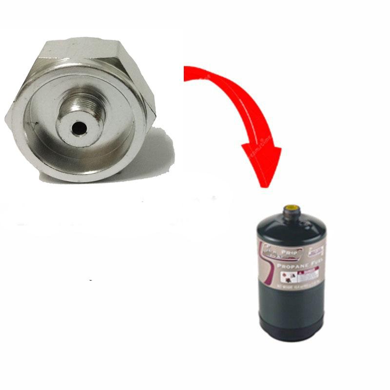 [해외]1LB 프로판 리필 어댑터 소형 가스 탱크 입력 밸브 출력 옥외 캠핑 난로 변환 실린더 LPG 캐니스터 가스 어댑터/1LB Propane Refill Adapter Small Gas Tank Input Valve Output outdoor Camping Stov