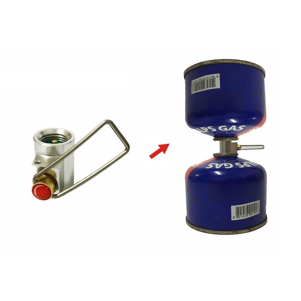[해외]야외 캠핑 금속 가스 스토브 어댑터 변환기 플랫 실린더 탱크 풍선 리필 가정용 가스 충전 탱크 어댑터/Outdoor Camping Metal Gas Stove Adapter Convertor Flat Cylinder Tank Inflatable Refill Ho