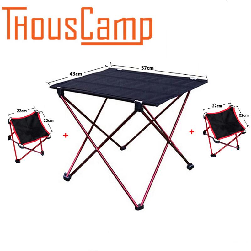 [해외]야외 대형 접이식 테이블 초경량 알루미늄 구조 휴대용 캠핑 테이블과 의자 접이식 피크닉 테이블/Outdoor Large Folding Table Ultra-light Aluminum Structure Portable Camping Tables and Chairs