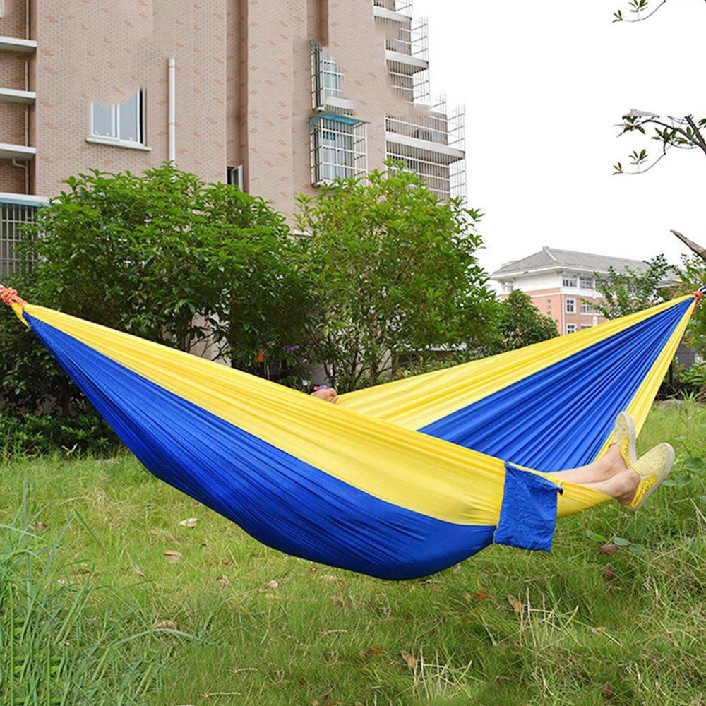 [해외]2 명 낙하산 나일론 직물 해먹 휴대용 야외 레저 여행 캠핑 낙하산 해먹 15Colors 텐트 액세서리/2 people Parachute Nylon Fabric Hammock Portable Outdoor Leisure Traveling Camping Parac