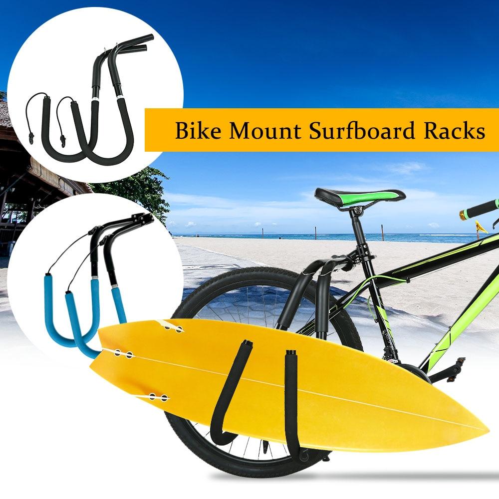 [해외]조정 가능한 자전거 서핑 보드 랙 자전거 서핑 보드 캐리어 시트 장착 포스트 액세서리 액세서리 롱 보드 서핑 보드 걸이 랙/Adjustable Bike Surfboard Rack Bicycle Surfing Board Carrier Mount to Seat Po