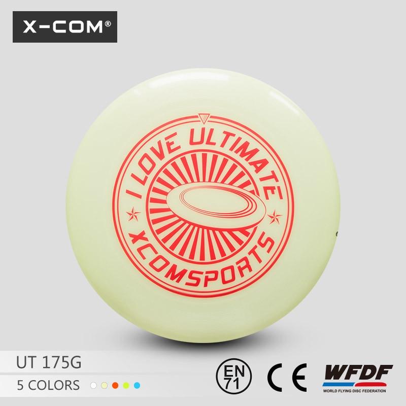 [해외]2018 Wfdf & amp; Usau X-com 175g 프로페셔널 얼티미트 트레이닝 디스크 - I Love Ultimate Glow in Dark/2018  Wfdf & Usau  X-com 175g Professional Ultimate Tr