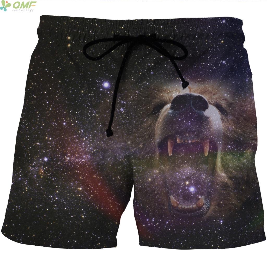 [해외]3D Galaxy 치열한 강아지 인쇄 하라주쿠 체육관 수영복 테니스 용 배드민턴 비치 반바지 레티나 얇은 망토 숏 팬츠/3D Galaxy Fierce Dog Print Harajuku Gym Swimwears Shorts For Tennis Badminton B