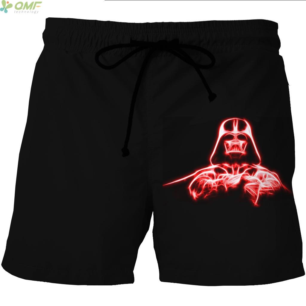 [해외]스타 워즈 다스 베이더 프린트 남자 스포츠 비치 반바지 플러스 사이즈 S-4XL 서핑 반바지 퀵 드라이 메쉬 숏 팬츠 통기성 얇은/Star Wars Darth Vader Print Men Sports Beach Shorts Plus Size S-4XL Surf