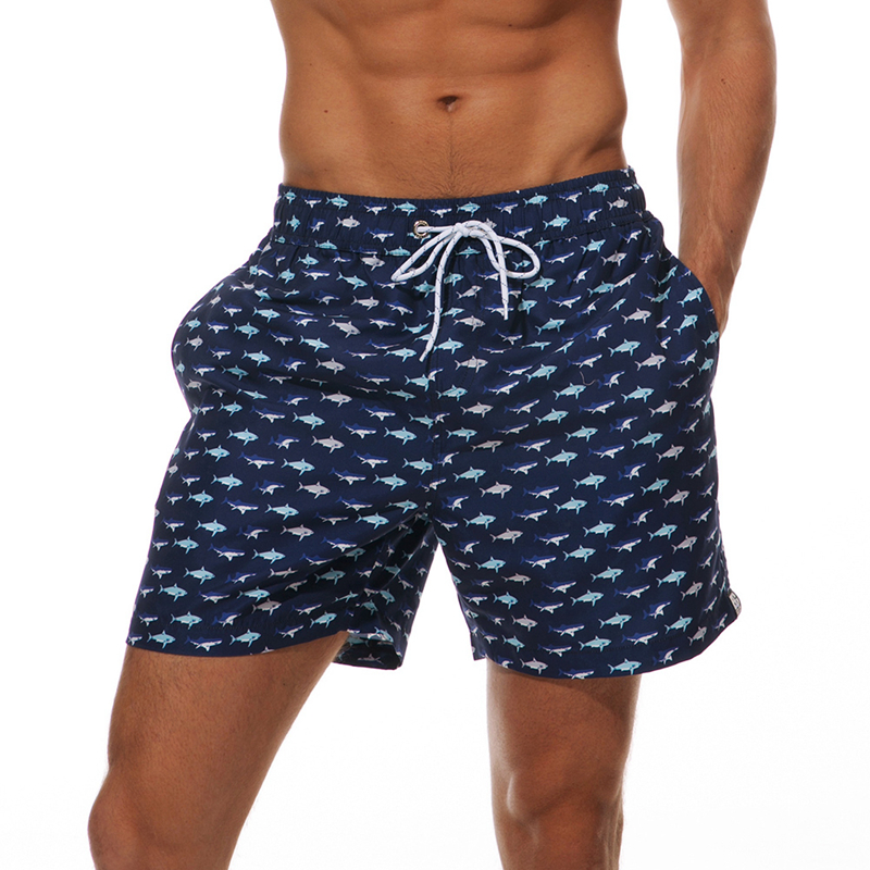 [해외]남자 & 여자 동물 패턴 수영 수영복 수영복 수영복 복서 허리 탄성 팬티 비치 트렁크 팬티 수영복 Mar20/Men&s animals Pattern Sport Swimming Bathing Suit Swimwear Boxer waist  Elastic S