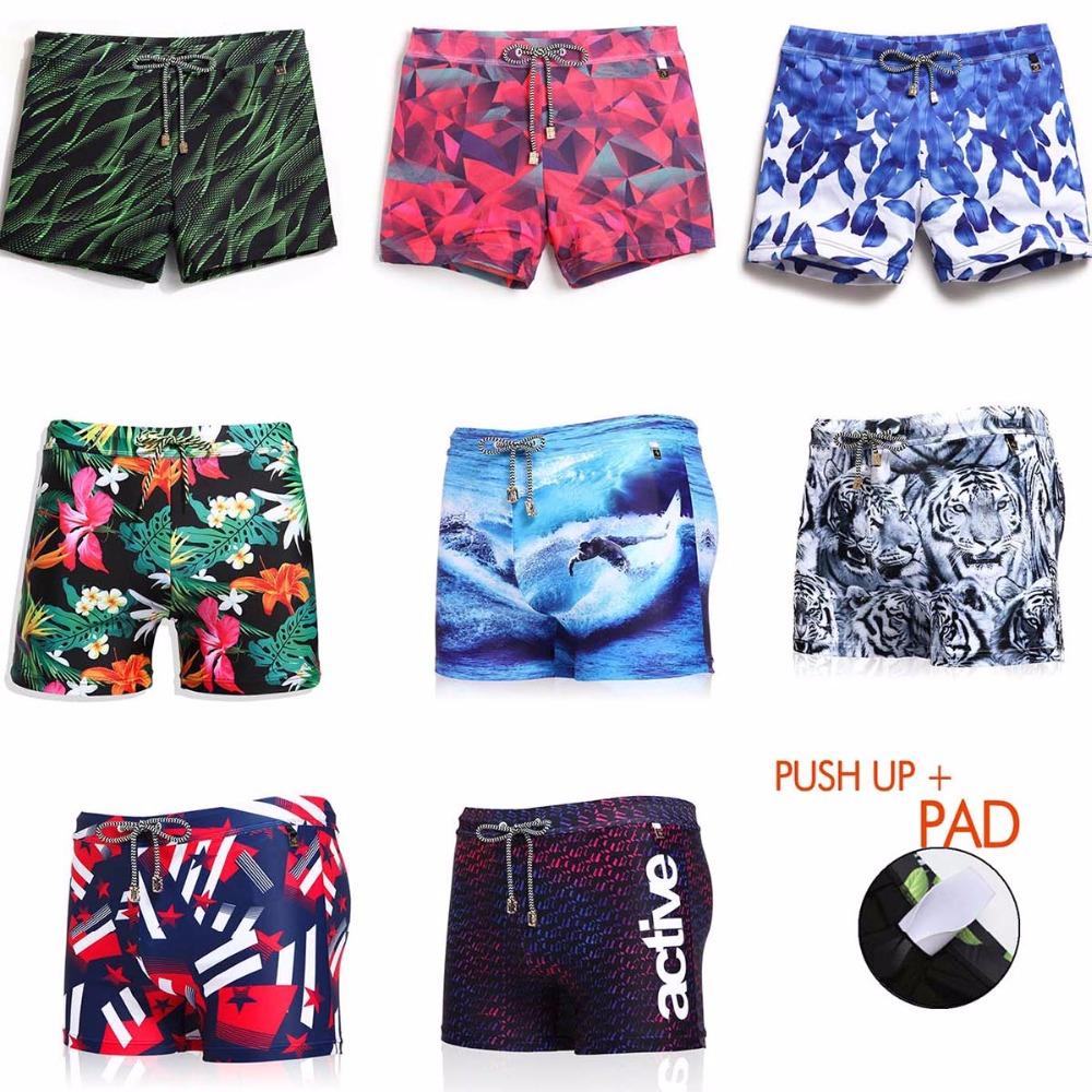[해외]남자 수영 트렁크는 PAD 수영복 수영 팬티 보드 반바지 수영복 남자 서프 비치 스트레이트 트렁크를 포함합니다/men Swimming trunks include PAD Swimwear Swimming Briefs Board Shorts Swimsuit Man S