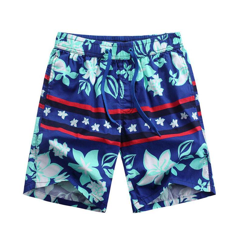 [해외]남성 코 튼 꽃 서핑 보드 반바지 남자 수영복 느슨한 야외 비치 반바지 수영 트렁크 망 실행 운동 운동 반바지/Male Cotton Floral Surf Board Shorts Men Swimwear Loose Outdoor Beach Shorts Swimmin