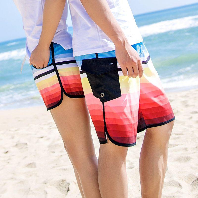 [해외]2018 프로모션 새로운 빠른 건조 해변 써니 비치 러버 반바지 퀵 드라이 바지 루즈 한 허니문 남성 커플 러커 짧은/2018 Promotion New Quick-drying Seaside Sunny Beach Lover Shorts Quick Dry Pants