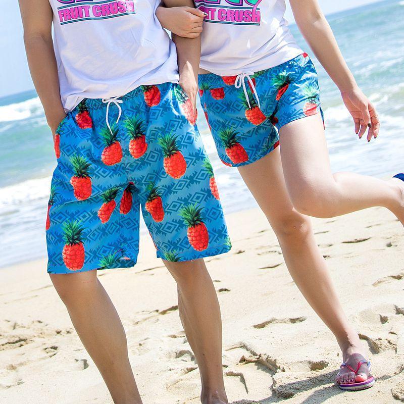 [해외]빠른 건조 해변가 써니 비치 러버 반바지 퀵 드라이 바지 루즈 한 허니문 여성 남성 커플 팬티 짧은/quick-drying Seaside Sunny Beach Lover Shorts Quick Dry Pants Loose Honeymoon Women Men Co