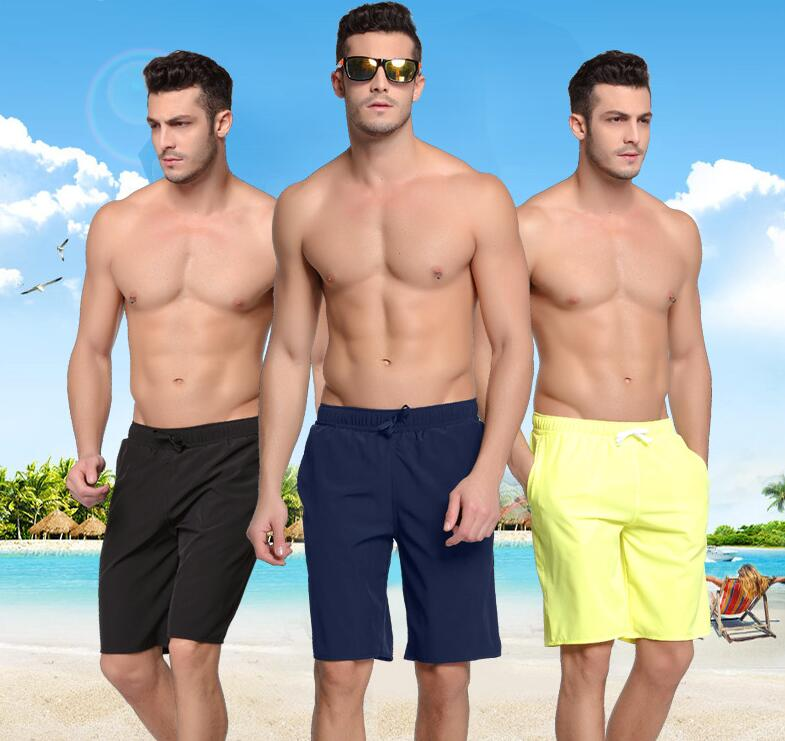[해외]남성 수영 트렁크 비치 보드 반바지 드라이 피트 퍼포먼스 쇼트 포켓 조절 가능한 끈 코드 단색 검정 네이비 블루 오렌지 3XL/Mens Swim Trunks Beach Board Shorts Dry Fit Performance ShortPockets Adjust