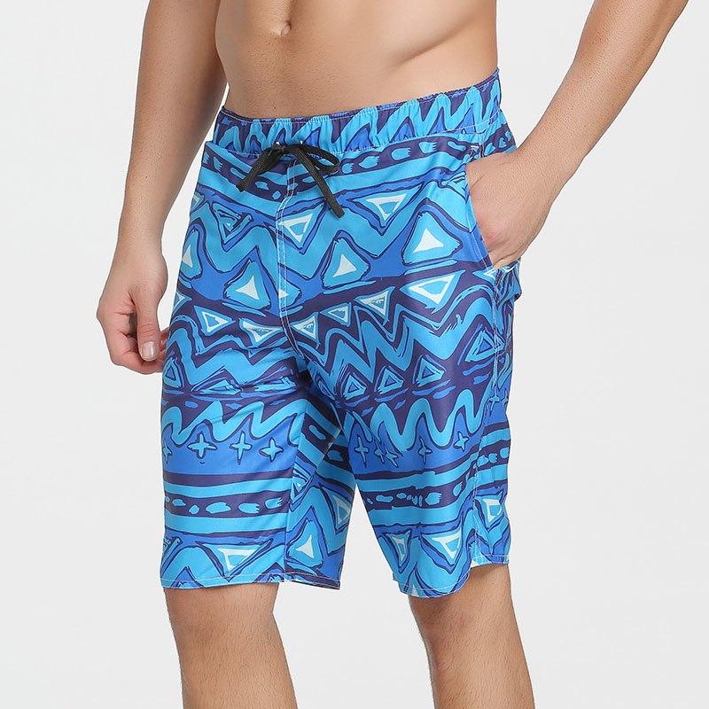 [해외]2018 남자 & 느슨한 해변 반바지 빠른 건조 버뮤다 보드 반바지 남자 수영복 수영 파도 타기 스판덱스 반바지 플러스 사이즈 3XL/2018 Men&s Loose Beach Shorts Quick Dry Printed Bermuda Board Short