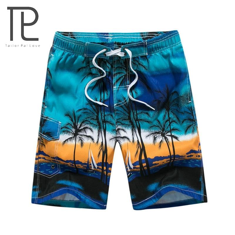 [해외]2018 하와이 여름 남성용 반바지 M-6XL Mens Beach 반바지 야자 나무 프린트 Cool 남성용 데일리 반바지 Homme Brand Clothing Blue Green/2018 Hawaiian Summer Men&s Shorts M-6XL Mens B