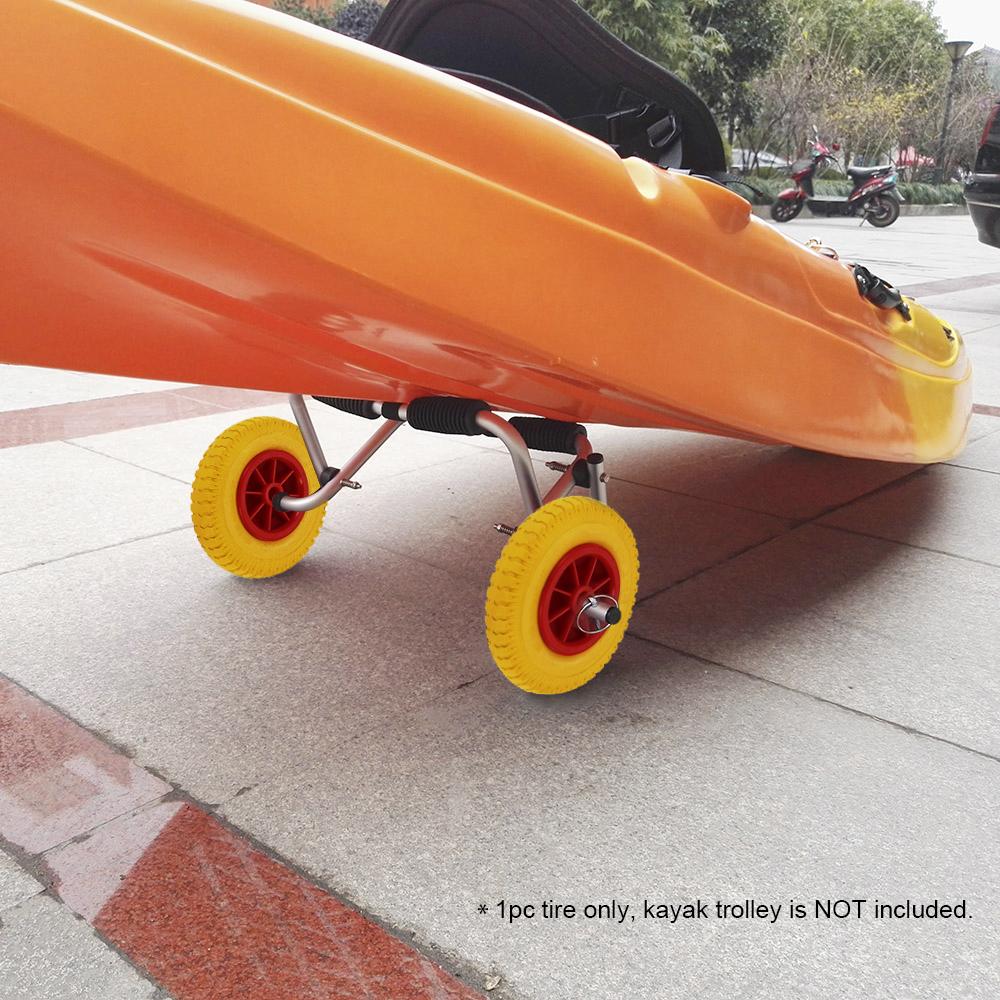 [해외]1Pc 카약 카누 트롤리 카트 교체 용 타이어 운반 트레일러 카트 탈착식 바퀴 용 8/10 인치 펑크 방지 타이어 휠/1Pc 8/10 Inch  Puncture-Proof Tire Wheel For Kayak Canoe Trolley Cart Replacemen