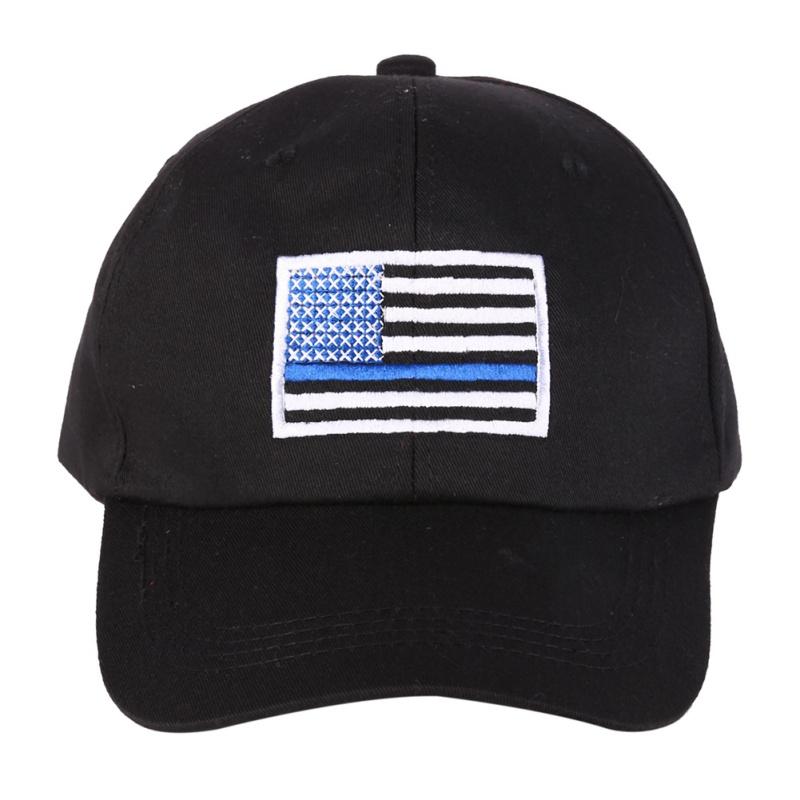 [해외]미국 국기를 실행하는 남자 여자 미국 국기 얇은 파란 선 깃발 경찰 법 집행을로우 프로파일 전술 모자 수 놓은 모자/Men Women Running Hat American Flag Thin Blue Line Flag Low Profile Tactical Hats