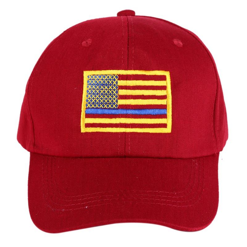 [해외]미국 국기 수 놓은 모자 남자 여자 얇은 블루 라인 플래그 경찰 법 집행 모자를로우 프로파일 전술 모자/American Flag Embroidered Cap Men Women Thin Blue Line Flag Low Profile Tactical Hats Fo