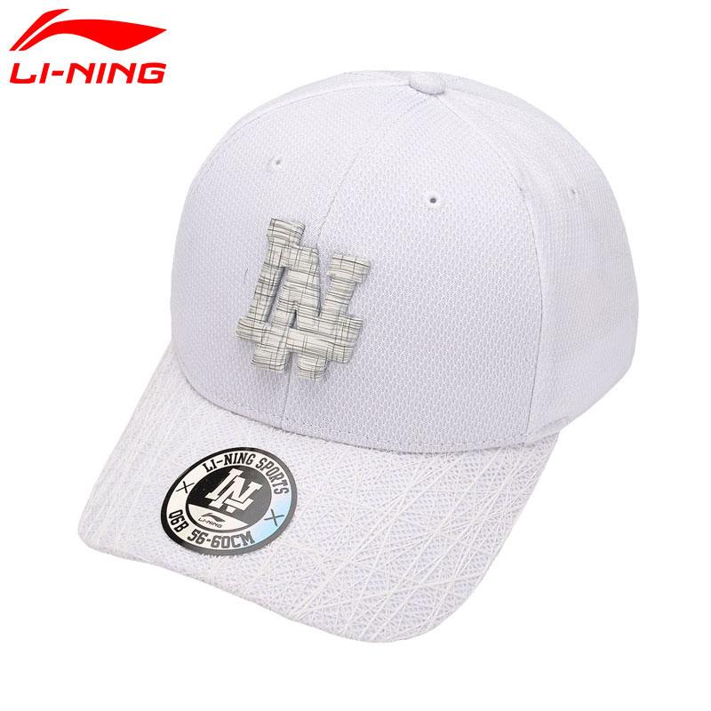 [해외]Li-Ning Couples 검정 & 백색 유행 실행 모자 100 % 년 폴리 에스테 통기성 일요일 프로텍터 LiNing 야구 스포츠 모자 AMYM082/Li-Ning Couples Black&White Stylish Running Caps 100