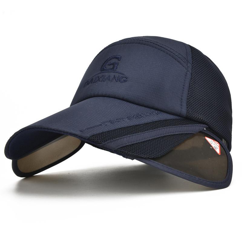 [해외]야외 여름 야구 모자 여성을개폐식 태양 바이저 모자 Gorras Casquette Touca 검은 색 안티 UV 러닝 캡/Outdoor Summer Baseball Caps for Women Retractable Sun Visor Hat Gorras Casque