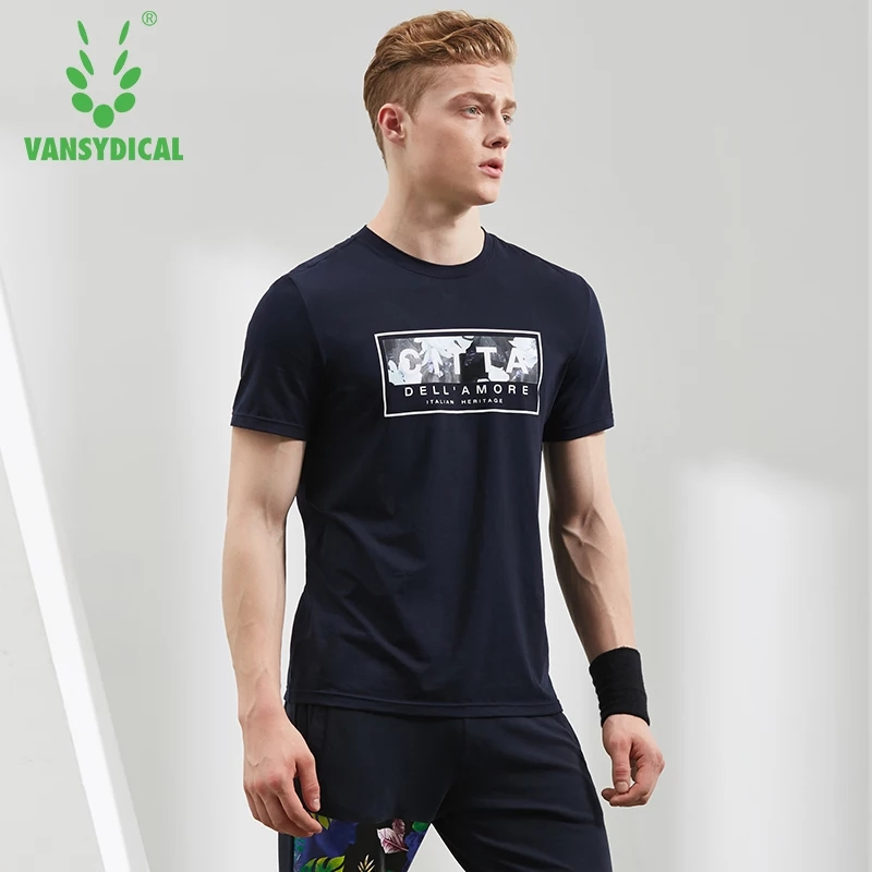 [해외]Vansydical 러닝 티셔츠 Men 's s Quick Dry Sports 탑 코튼 통기성 운동 짧은 Retail 야외 조깅 스포츠웨어/Vansydical Running T-shirts Men&s Quick Dry Sports Tops Cotton B