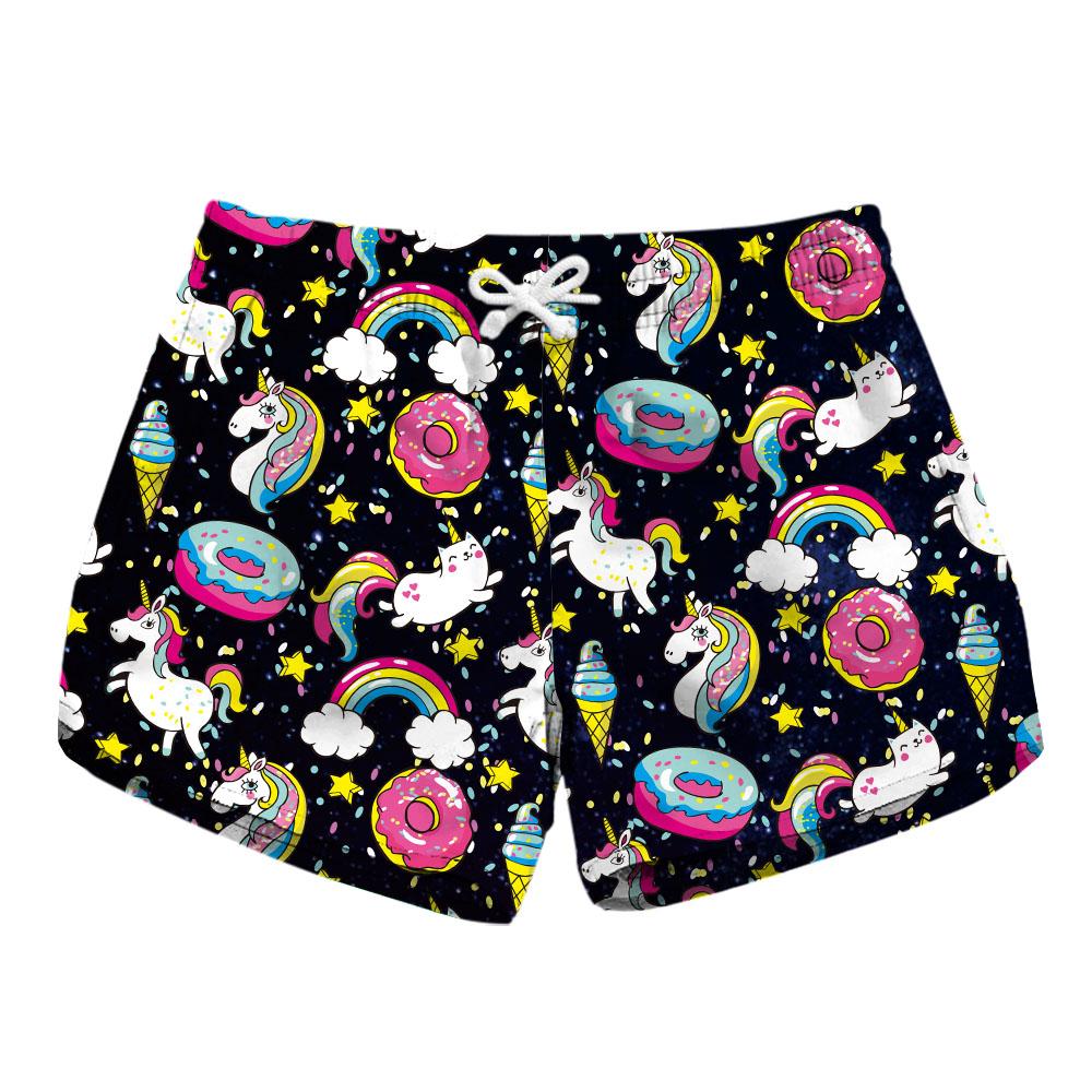 [해외]새로운 레인보우 말 WomenBlack 러닝 쇼츠 3 패턴 그레이 고양이 프린트 블루 여름 반바지/New Rainbow Horse WomenBlack Running Shorts 3 Patterns Grey Cat Print Blue Summer Shorts
