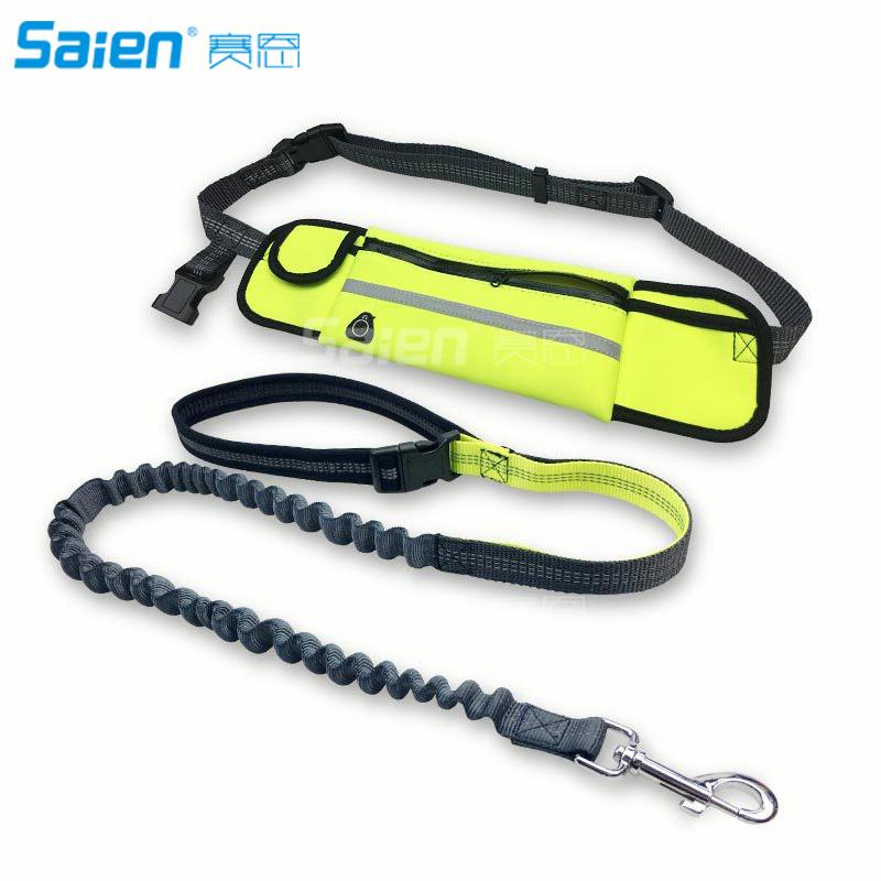 [해외]손 무료 개 끈, 개폐식 개 끈 SetWaist 벨트 스마트 폰 주머니 반사 스티치 번지 로프/Hand Free Dog Leash, Retractable Dog Leash SetWaist Belt Smartphone Pouch Reflective Stitchin