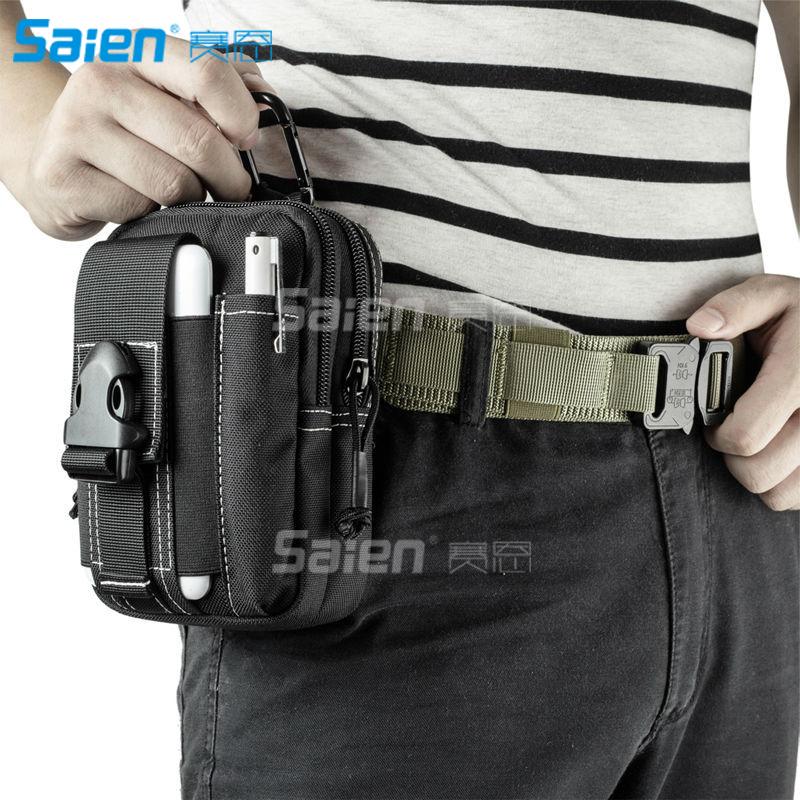 [해외]전술 Molle 파우치 EDC 유틸리티 가제트 벨트 허리 가방, 캠핑 하이킹 야외 기어 휴대 전화 홀더 보유자 아이폰에 대한/Tactical Molle Pouch EDC Utility Gadget Belt Waist Bag, Camping Hiking Outdo